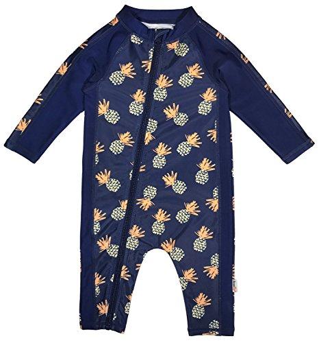 cbd3d7591e Sunsuits – SwimZip Little Boy Long Sleeve Sunsuit with UPF 50 Sun  Protection Pineapple Blue 12-18 Month
