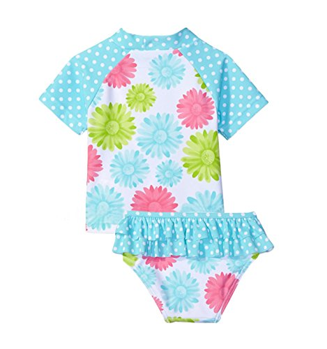 TAIYCYXGAN Baby Toddler Girls Long Sleeve Swimsuit Kids Two Pieces Rash Guard Sunsuit With Hat UPF 50 UV