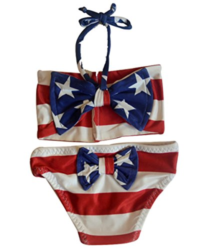 22460f650 Bikinis – BANGELY Kids Baby Girls American USA Flag Stars Print Halter  Two-Pieces Bikini Swimsuit Bathing Suit Size 2-3Years (Red) Offers