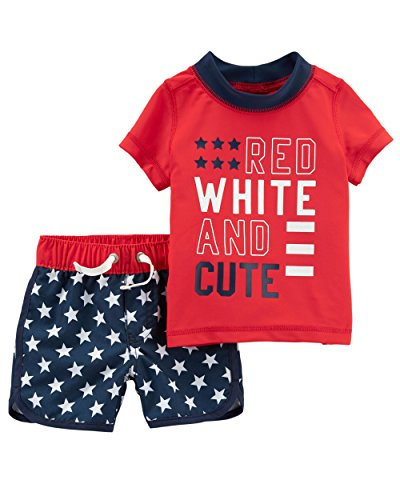 8026798e83 Swimwear Sets – Carter's Baby Boys' 4th of July Rashguard Set 3 Months  Offers