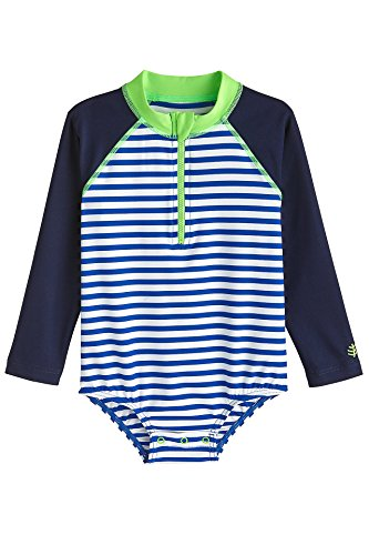 8556f677d8 Rash Guard Shirts – Coolibar UPF 50+ Baby Wave One-Piece Swimsuit – Sun  Protective (6 Months- Blue Wave Stripe) Offers